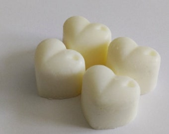 4 Heart, Shape, White, Jasmine, Scented, Wax Melts