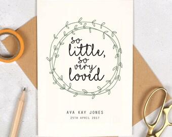 new baby card etsy