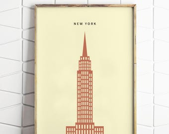 New York Minimalist Print