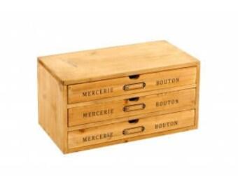 Haberdashery buttons drawers