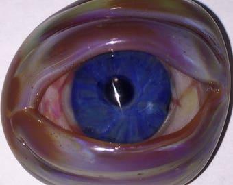 Small Bloodshot Glass Eye Pendant