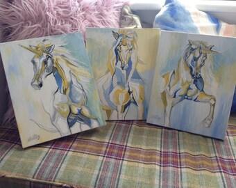 Unicorn Paintings {Set of 3}