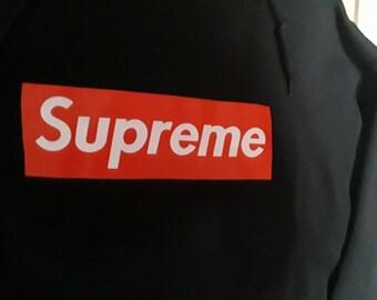 Supreme/Supreme crop/crop hoodie/black crop/Supreme box