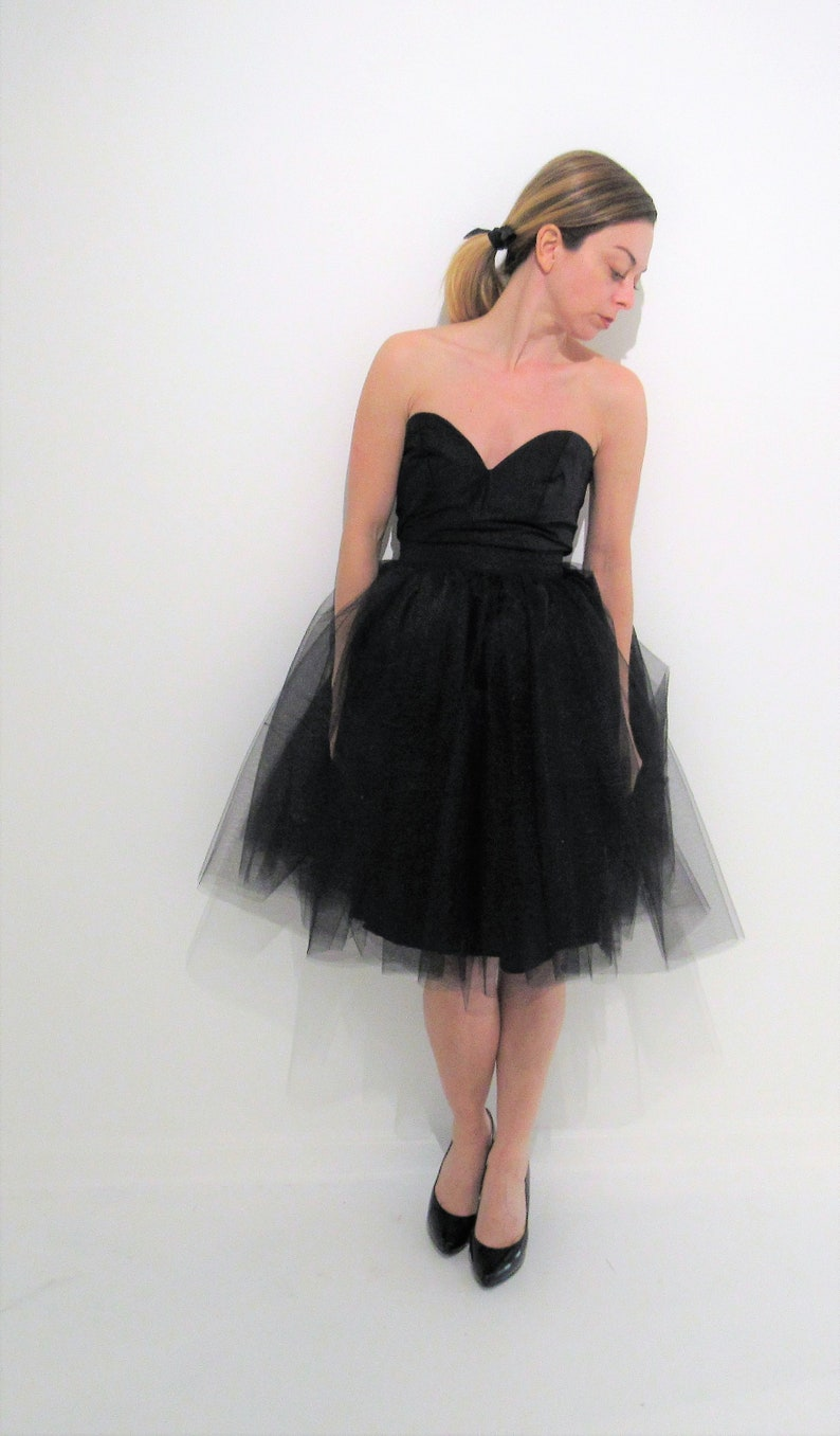 be89bb1204649 Yours and Mine Bridal Women's Black Tulle Skirt, Tutu Skirt, Engagement,  Holiday Dress, Photo Shoot, Birthday Party, USA Seller
