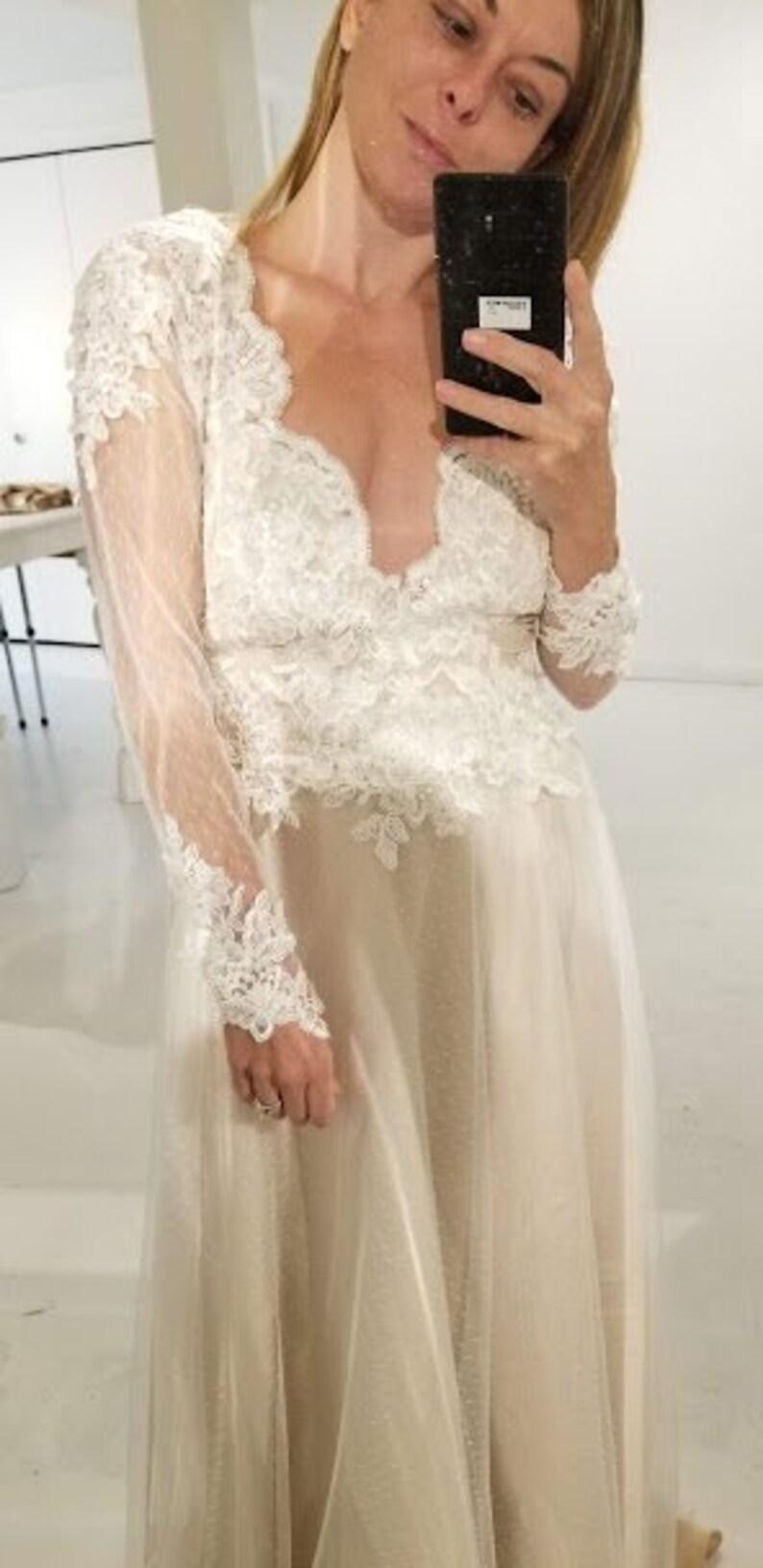 e911d5385b6 Bodysuit Tulle Skirt Wedding Dress
