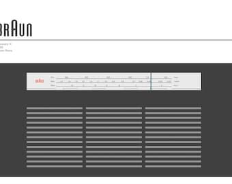 Braun Transistor K Radio Abstract fine art giclée print