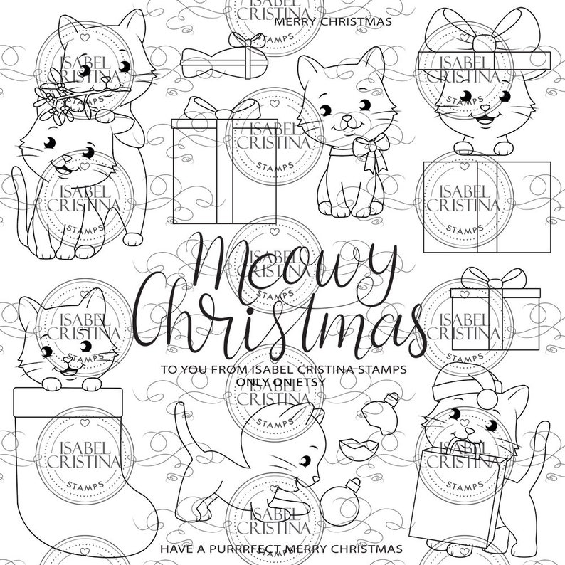Christmas cats  IsabelCristinaStamps image 0