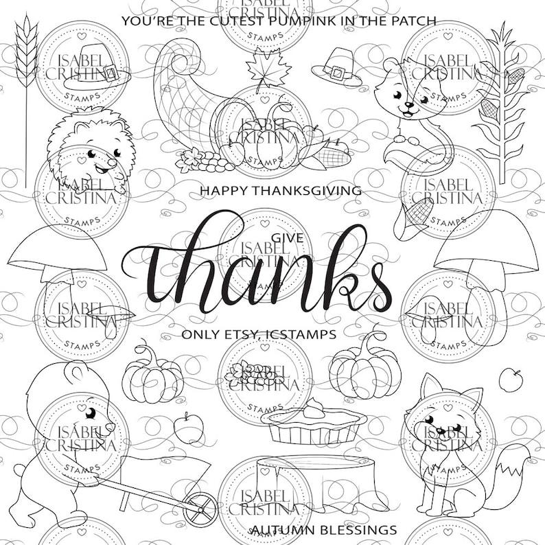 Thanksgiving  IsabelCristinaStamps image 0