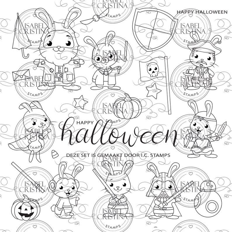 Hoppy Halloween 2019  IsabelCristinaStamps image 0