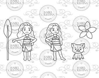 Tropical princess - Isabel Cristina Stamps