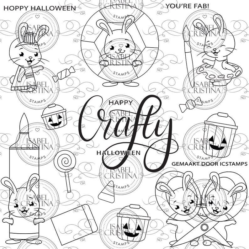 Hoppy Halloween  IsabelCristinaStamps image 0