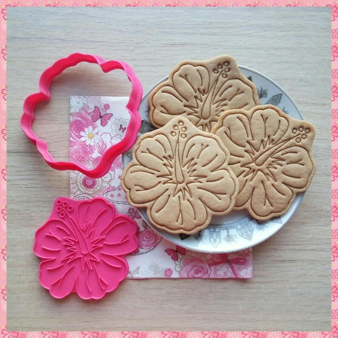Hibiscus flower cookie cutter 3d printed cutter dough etsy hibiscus flower cookie cutter 3d printed cutter dough cutter izmirmasajfo
