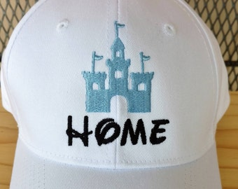 2bbdc0cfcf09a4 Cinderella's Castle, Embroidered Hat, Disney Vacation, House of Mouse, Home  Sweet Castle, Disney Cruise, Adjustable Baseball Cap