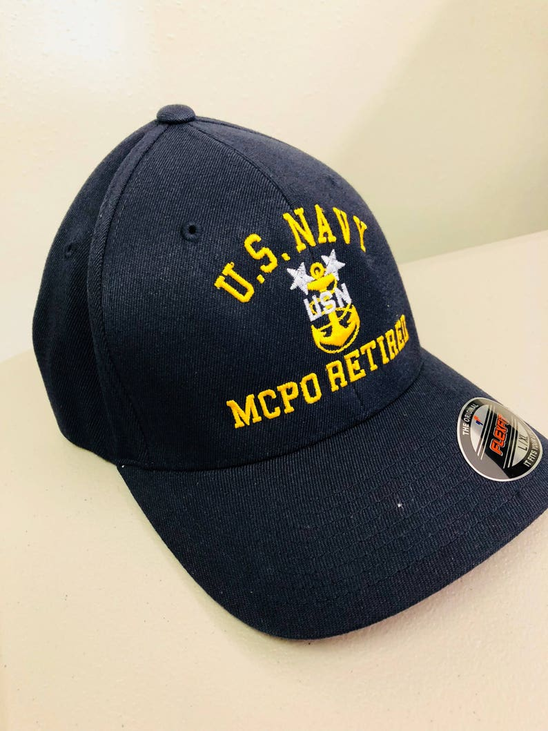 d1c596cc753 Retired Navy FlexFit Hat Chief Hat CPO Retired Chief Petty