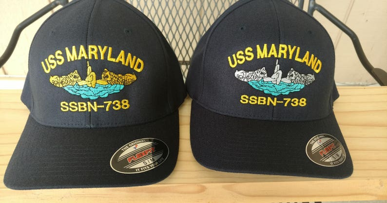 Navy Command Hat, FlexFit Ball Cap, Boat Hat, Enlisted Dolphins, Naval  Officer hat, Military Submarine Hat