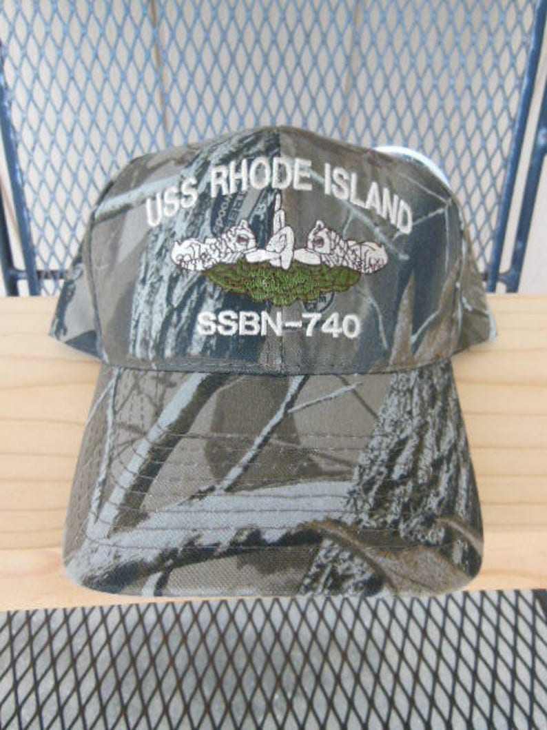 bcab91a8f27 Camouflage Hat Camo Ball Cap Submarine Dolphins Naval