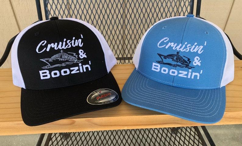 78bd8bb1 Cruisin' & Boozin' Embroidered Hat Cap Booze Cruise | Etsy