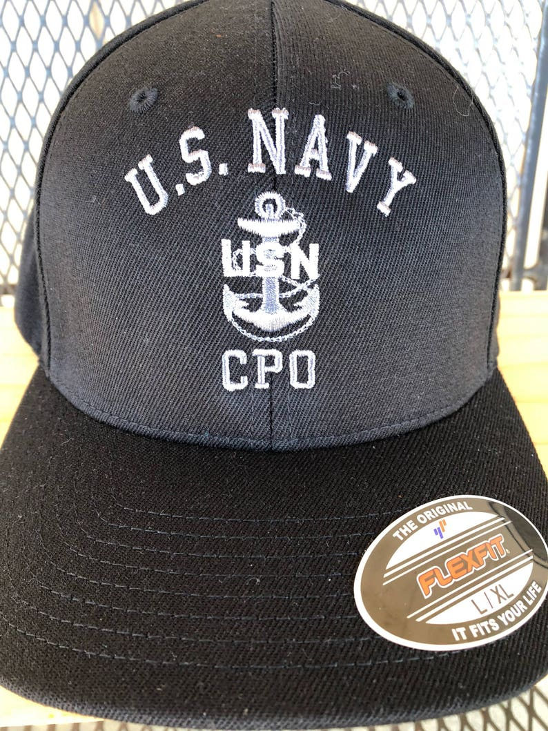 Chief Hat CPO Hat Chief Petty Officer Hat Silver Anchor  8d66acaf301c