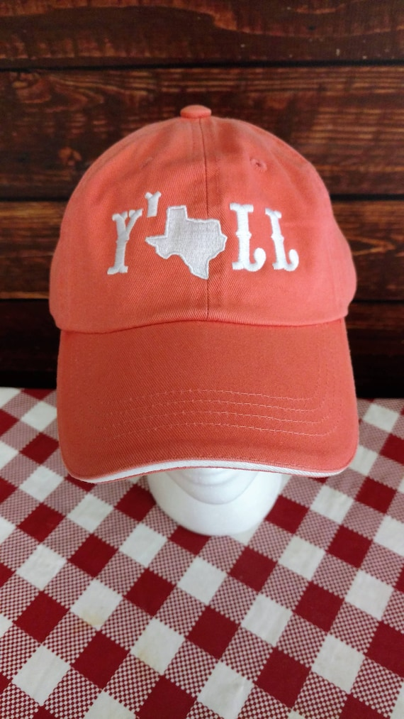128233d2b61 Y all hat Texas Pride Country chic Southern girl Coral