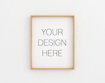 Frame Mockup, Wood Frame Mockup, Styled Stock Photography, Blank Frame Stock Photo, Wall Art Display,Poster Mockup, Minimalist Frame Mockup
