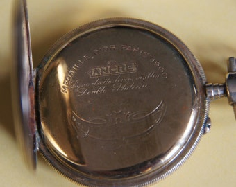 Late 19th century pocket watch in its journey - mechanical with manual winding