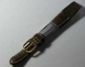 Watch Buffalino 16 mm wide leather bracelet