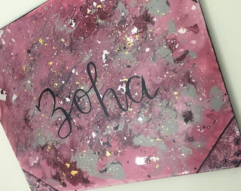 Personalized name painting with foil