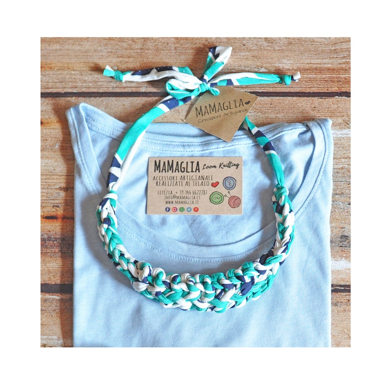Layered necklace Ethnic Necklace Ribbon collier for women image 0
