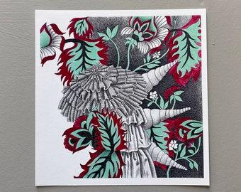Feelers Giclée, Fine Art Print, Archival Print, Abstract Drawing, Pagan Art, Surreal Art, Mystical Art, Visionary Art, Wall Art, Wiccan Art