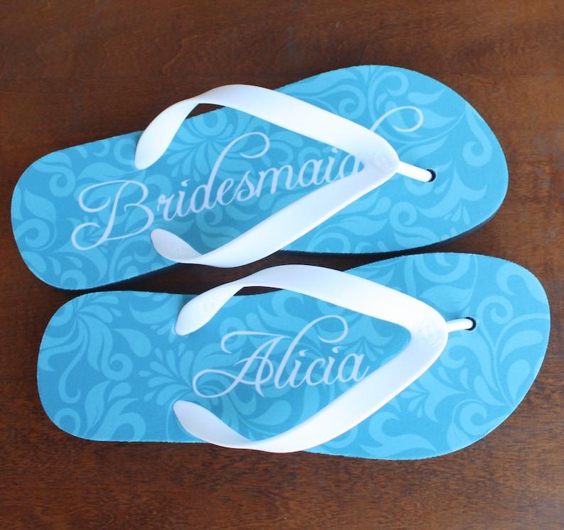 a286feff7b370 Bridesmaid Flip Flops Personalized Flip Flops for Bridesmaid