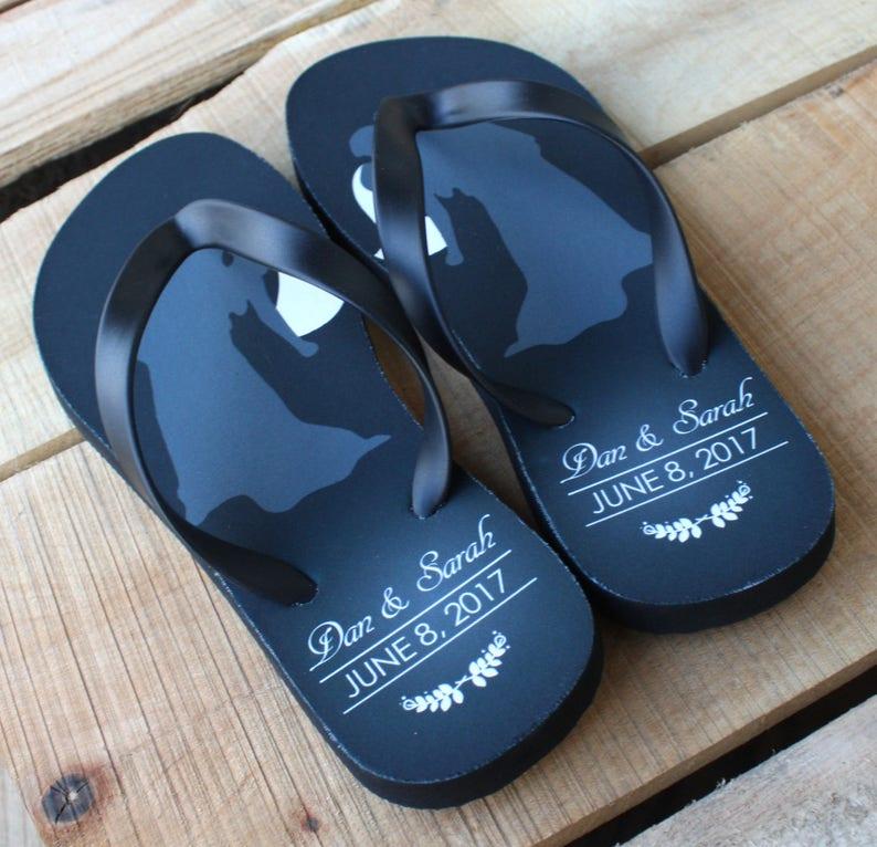 1af0e9602f34a Wedding Date Flip Flops Personalized Flip Flops for Bride