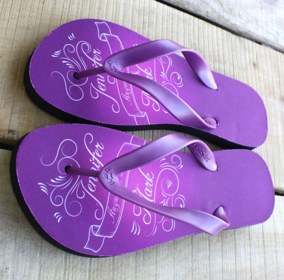 c5d024ea31a3 Custom Flip Flops Personalized with your names and wedding