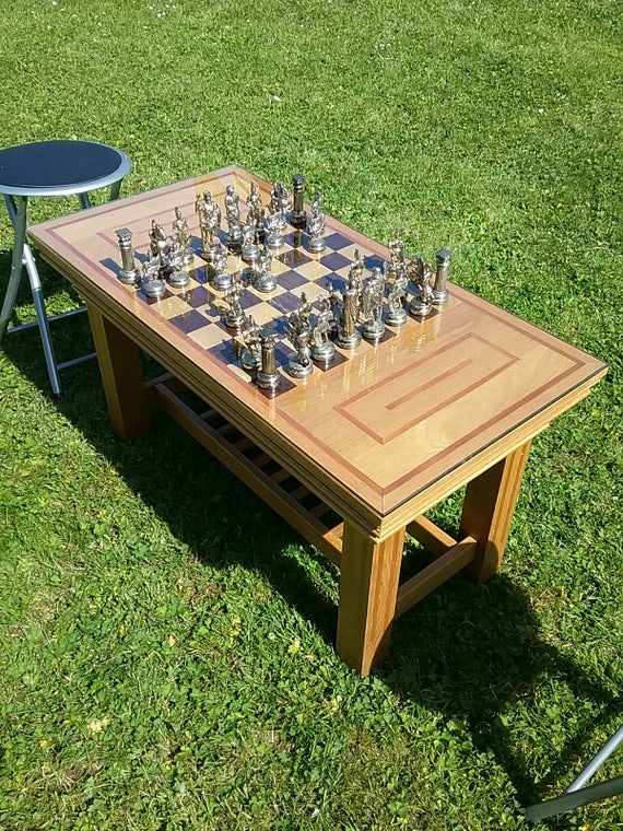 Awesome Bespoke Chess Table Coffee Table Chess Set Chess Pieces Beautiful Piece Of Furniture Hand Crafted Ncnpc Chair Design For Home Ncnpcorg