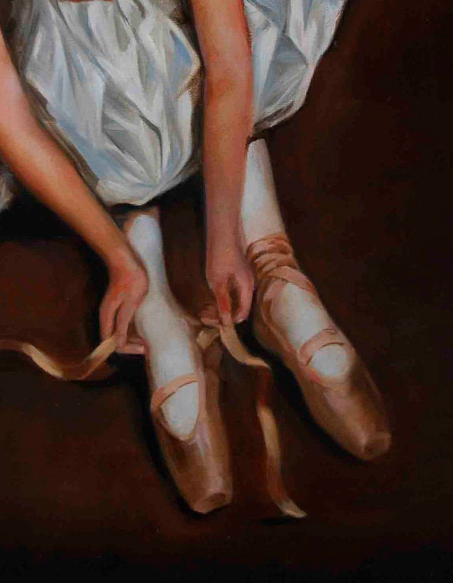 ballet, ballerina, original oil painting on canvas, pointe shoes, customer oil painting, ballet dancer, ballerina art, ballet pi
