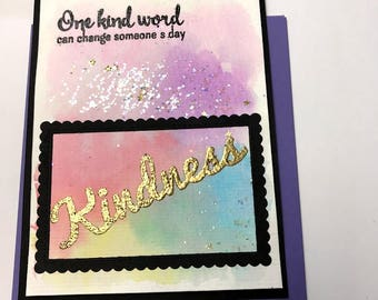 Kindness Greeting Card, One Kind Word Card, Kindness Matters, Thoughtfulness, Appreciate You Card, Thankful for You card