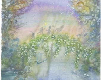 Twilight Spring, Original watercolour painting