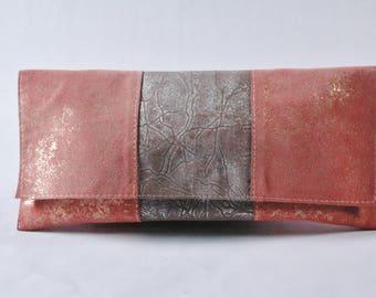 Harmony/Beige and Peach Clutch Handbag