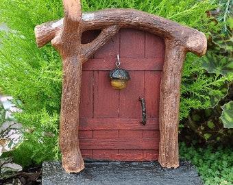 Cast Metal Fairy Garden DOOR KNOCKER Ring Faerie Gnome Hobbit Elf Miniature New