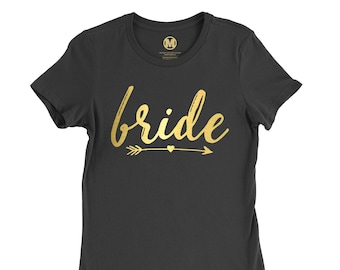 Bride Shirt, Bride Top, Bride to Be Clothing, Bridal Party Shirt – Personalized Just for You