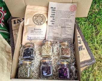 Tea Blending Kit - Chai Latte Gift Set - Loose Leaf Tea - Indian Tea - Gift For Tea Lover
