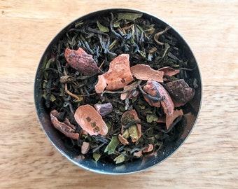 Mint Choc Chip Loose Leaf Black Tea - Ceylon Tea - Unusual - Handmade - Tea Gift