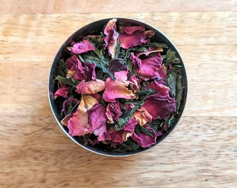 Rose Sencha Loose Leaf Green Tea - Chinese Green Tea - High Quality Green Tea - Tea Gift