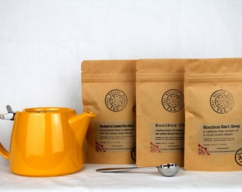Rooibos Gift Set with Teapot - Loose Leaf Tea - Gift For Tea Lover - Red Bush