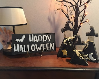 happy halloweenwood signsdistressed signsfarmhouse decor