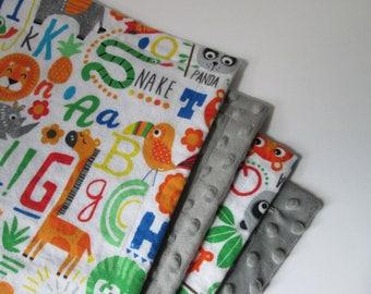 Alphabet Animal Blanket