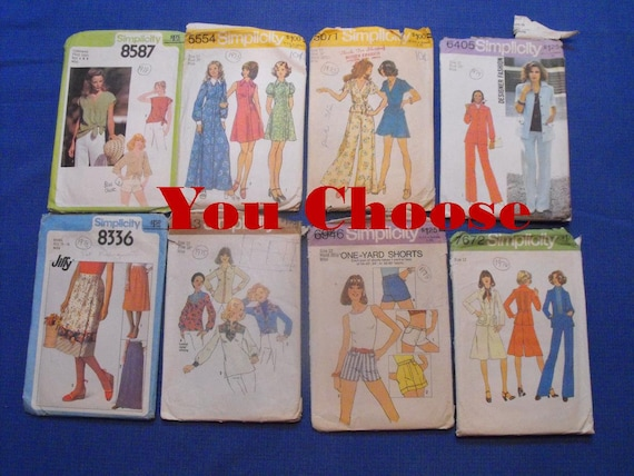 Your Choice Vintage 70s Sewing Patterns Simplicity Size Etsy