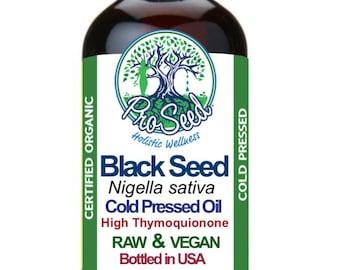 RAW Black Seed Oil - Virgin Organic Unfiltered Cold Pressed-Nigella Sativa Oil- Blackseed Oil