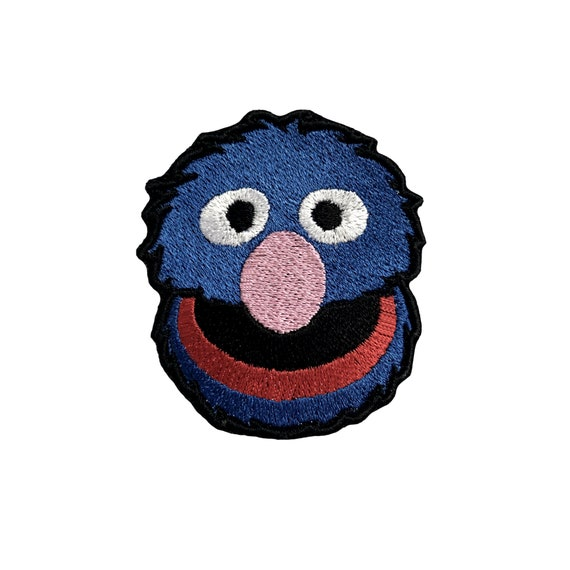 Super Grover Patch Embroidered Patches For Jackets Sesame Street Iron On Patches For Jeans Badge Applique Patches Backpack