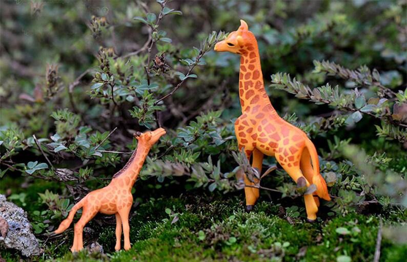 Terrariums  Animal Figurines Miniatures Deer Mini Giraffe Succulents Charms