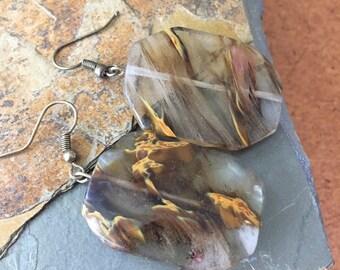 Natural Beaded Earrings